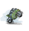 biker motorcycle with powerful motor on speed vector image vector image