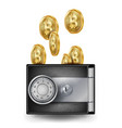 bitcoin leather wallet fintech blockchain vector image