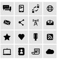 black communication icon set vector image vector image