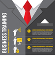 Business training infographic vector image vector image