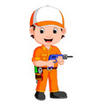 cartoon a mechanic vector image vector image