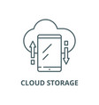 cloud storage line icon linear concept vector image vector image