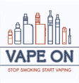 Color of vape vector image vector image