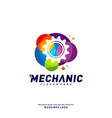 colorful gear logo design concepts mechanical vector image