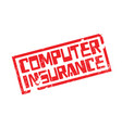 computer insurance rubber stamp vector image