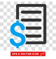 Contract Eps Icon vector image vector image