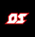 di logo design initial di letter design vector image vector image