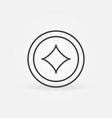 diamonds card suit linear minimal concept vector image vector image