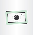 digital camera photography icon vector image