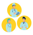 doctor medical professional flat style cartoon vector image vector image