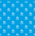 donation box pattern seamless blue vector image vector image