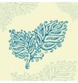 Doodle ink leaf pattern vector image vector image