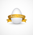 Easter eggs with gold ribbon vector image vector image