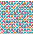 Fish Scales Seamless Pattern Colorful Cartoon vector image vector image