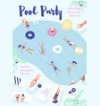 flyer poster party invitation template with vector image vector image