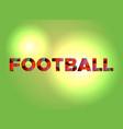 football theme word art vector image