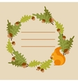 frame with a squirrel vector image vector image