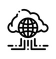 global internet cloud networking sign icon vector image vector image