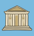 greek temple icon hand drawn style vector image