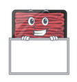 grinning with board minced meat isolated in the vector image vector image