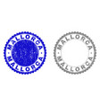 grunge mallorca textured stamp seals vector image vector image