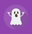 Halloween Flat Icon Ghost vector image vector image