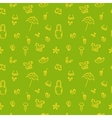 Hand drawn summer seamless pattern Green