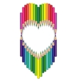 heart colored pencils vector image