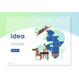 idea website landing page design template vector image vector image