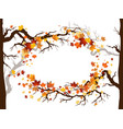 leaves and branches frame vector image vector image