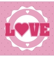 Love icons design vector image