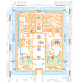 Map of the forbidden city palace complex in