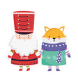 merry christmas celebration nutcracker soldier and vector image