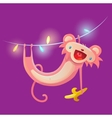 Monkey hanging on garland vector image
