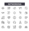 networking line icons signs set linear vector image vector image