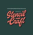 original brush script font vector image vector image