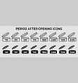 period after open icons set symbols round vector image vector image