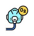 pilot oxygen facial mask color icon vector image vector image
