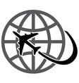 plane earth vector image