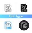 raw file icon vector image