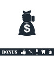 robbery icon flat vector image vector image