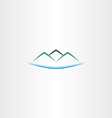 sea and mountains island logo icon vector image vector image