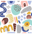 seamless abstract pattern with hand drawn creative vector image