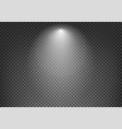 spotlight effect on dark transparent background vector image vector image