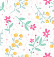 Spring mood repeat floral pattern vector image