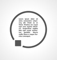 stop symbol and circle vector image vector image