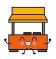 store building symbol cute kawaii cartoon vector image vector image