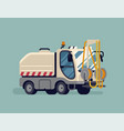 street washing machine truck city cleaning vector image