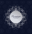stylish premium mandala frame floral background vector image