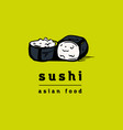 sushi restaurant icons set vector image